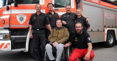 Halvaantuneen entisen paloesimiehen ja telinevoimistelijan hyväksi toteutettu keräys tuotti hienon tuloksen