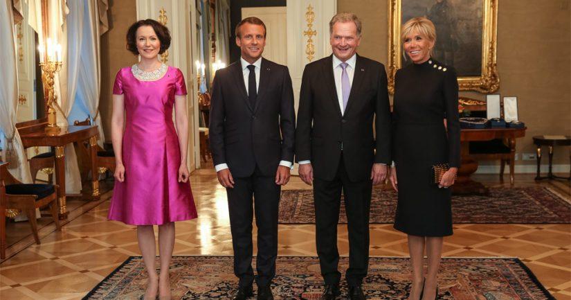 Ranskan presidentti Emmanuel Macron ja hänen puolisonsa Brigitte Macron olivat virallisella vierailulla Suomessa elokuun lopussa.