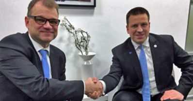 Suomen ja Viron pääministerit tiivistävät maiden taloussuhteita – tunnelihankkeesta erillinen kokous