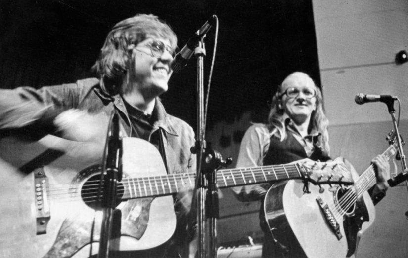 Juice ja Mikko -kiertue vuonna 1975, kaksikko palasi yhteen vielä kolmekymmentä vuotta myöhemmin (Kuva Mikko Alatalon arkisto)