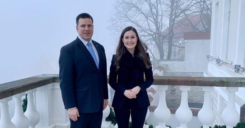 Pääministeri Sanna Marin tapasi Tallinnassa Viron pääministerin Jüri Rataksen.