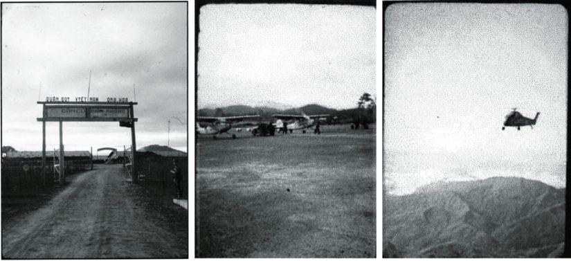 Amerikkalaisen tulitukikopterin lentäjä kuvasi Kham Ducin portin sekä operaatiossa käytetyt lentokoneet ja helikopterin.