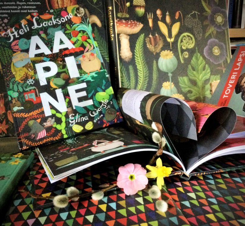 Voittajan luokan jokainen oppilas saa Heli Laaksosen kirjoittaman ja Elina Warstan kuvittaman Aapine-aakkosrunokirjan.