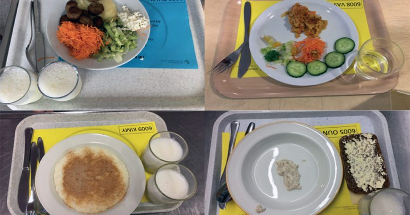 Vain harva koululainen syö kaikki aterian osat.