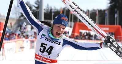 Krista oli viikonlopun hiihtokuningatar – Salpausselän kisoissa 32 500 kisavierasta