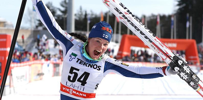 Krista Pärmäkoski on jo pidempään puhunut idolinsa Marit Björgenin päihittämisestä yksittäisessä kilpailussa ja tänään se toteutui.