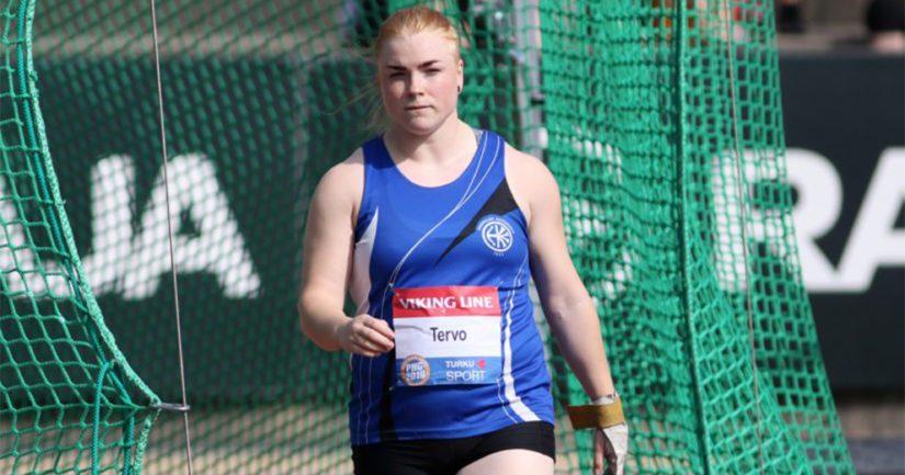 Krista Tervo rikkoi naisten moukarissa ensimmäisenä suomalaisena 70 metrin rajan.