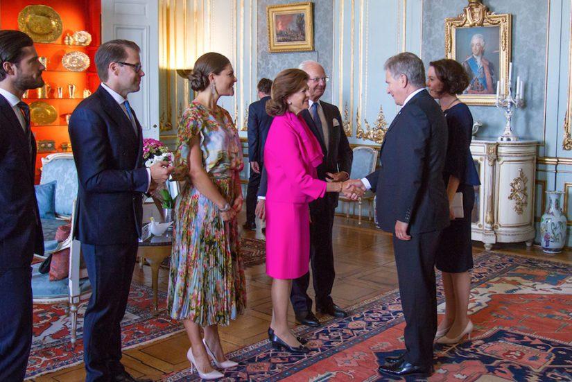 Tukholman-vierailu alkoi kuningasperheen tarjoamalla yhteisellä lounaalla Kuninkaanlinnassa.