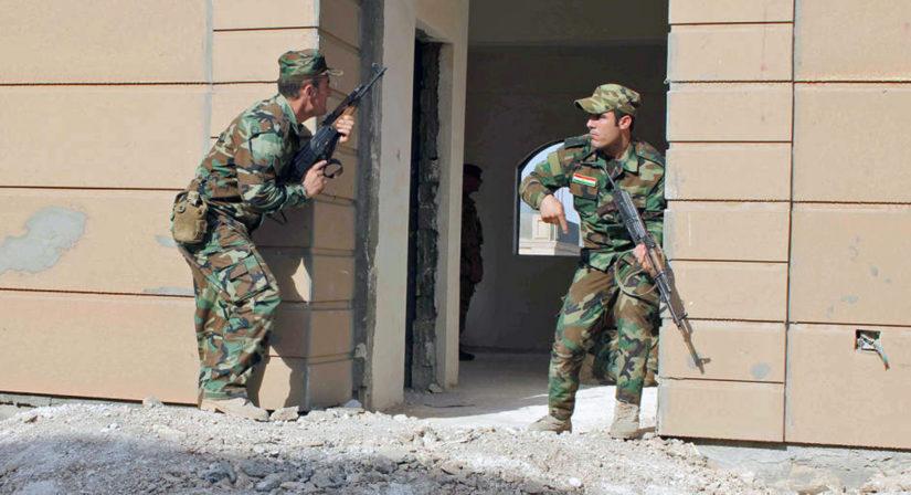 Kurdeja on koulutettu kaupunkisotaan, jonka jälkeen Mosulissa on todennäköisesti edessä valtava humanitäärinen kriisi. (Kuva Puolustusvoimat)