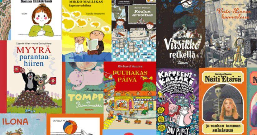 Mukana äänestyksessä on suomenkielistä vanhempaa lasten- ja nuortenkirjallisuutta.