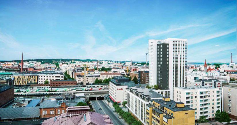 Alexander Barkovin väitettiin hankkineen tästä tornitalosta yhden ylimpien kerrosten huoneistoista yli miljoonan euron hintaan.
