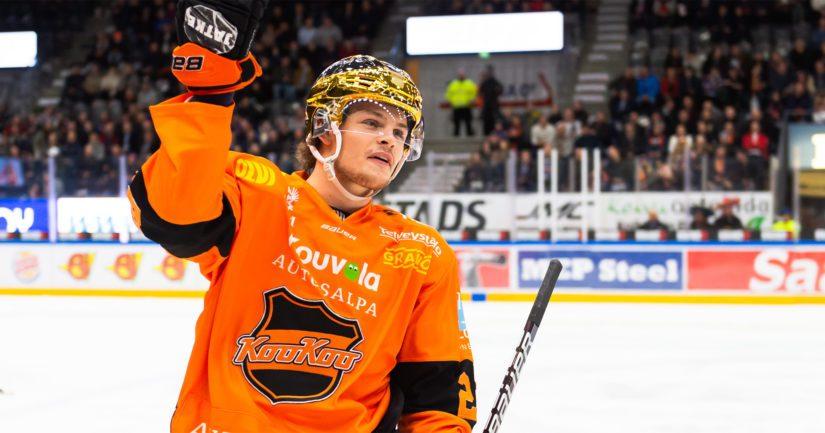 KooKoon Malte Strömwall voitti runkosarjan maali- ja pistepörssit.