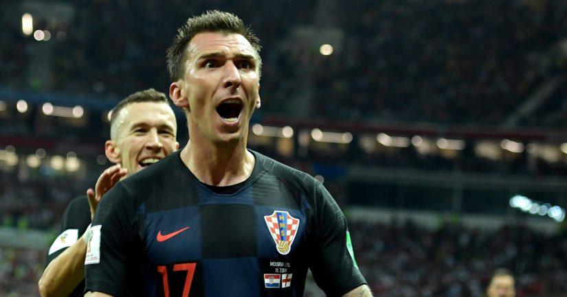 Mario Mandžukić teki Kroatialle ratkaisevan maalin jatkoajalla.