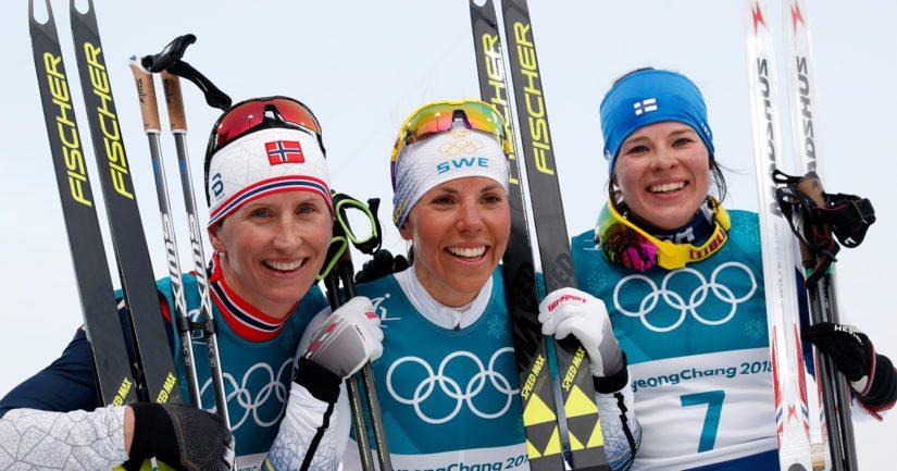 Pohjoismaista hallintaa, palkintokorokkeelle nousivat Norjan Marit Björgen, Ruotsin Charlotte Kalla ja Suomen Krista Pärmäkoski.