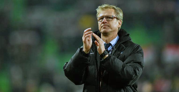 Huuhkajien päävalmentaja Markku Kanerva. (Kuva Palloliitto)