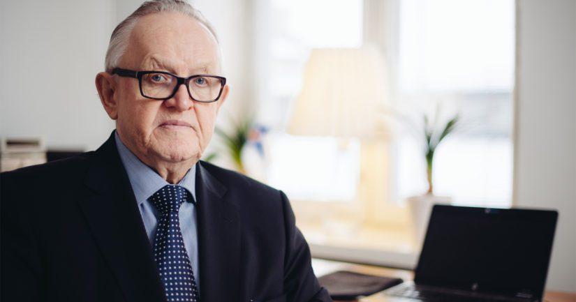 Rauhannobelisti, presidentti Martti Ahtisaari.