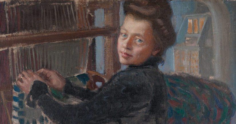 Akseli Gallen-Kallela: Mary kutoo, 1905, öljymaalaus. Yksityiskokoelma.