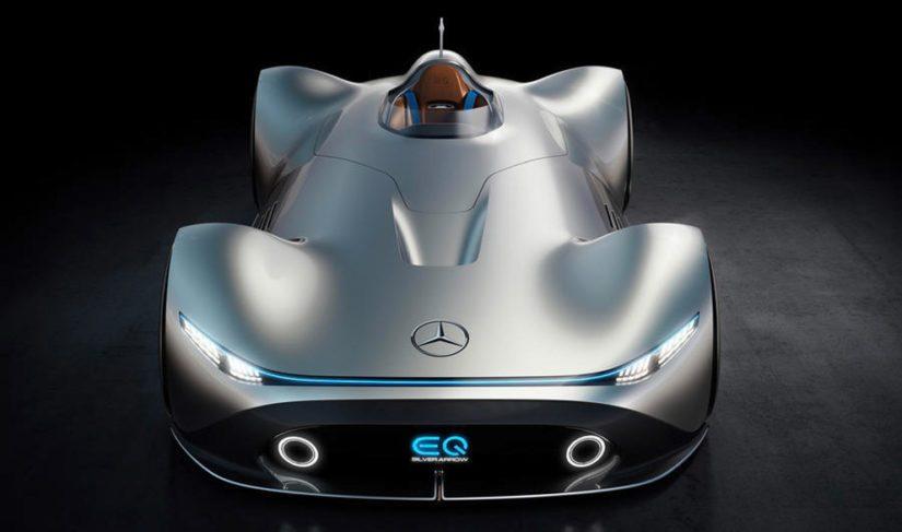 Auto edustaa puhdasta futurismia voimalinjaa myöten.