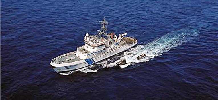 Merikarhun tehtävänä oli valvoa Euroopan Unionin ulkorajaa Egeanmerellä.