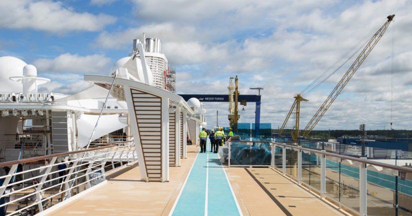 Meyerin Turun telakalla rokotetta tarjotaan ensisijaisesti niille työntekijöille, jotka rakentavat varusteluvaiheessa olevia laivoja kokopäiväisesti.
