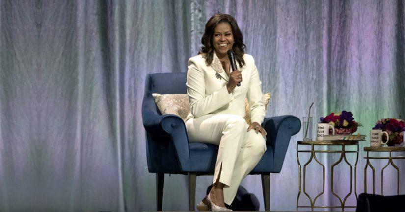 Michelle Obaman luentokiertue toi hänet ensimmäistä kertaa Tukholmaan.