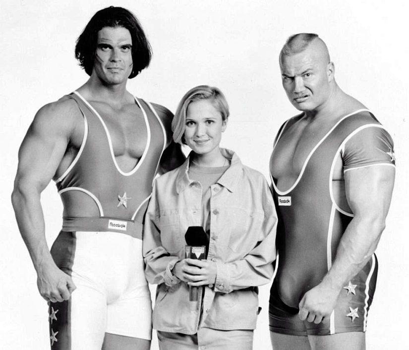 Mohikaani oli Mika Ounaskari, Viikinki puolestaan Tony Halme. Suosittujen Gladiaattori-hahmojen keskellä juontaja Katariina Ebeling.
