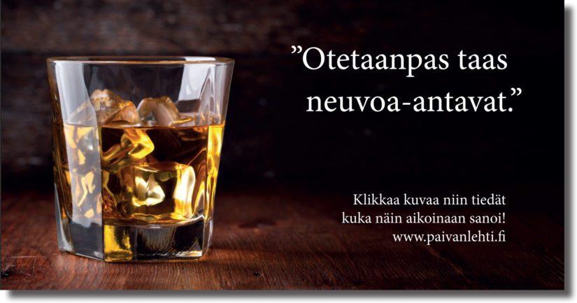 Neuvoa-antavilla drinkeillä on vankka juurensa suomalaisessa demokratiassa.