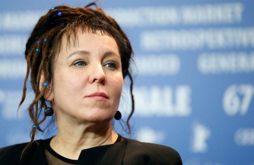 Puolalainen kirjailija ja psykologi Olga Tokarczuk oli yksi ennakkosuosikeista.