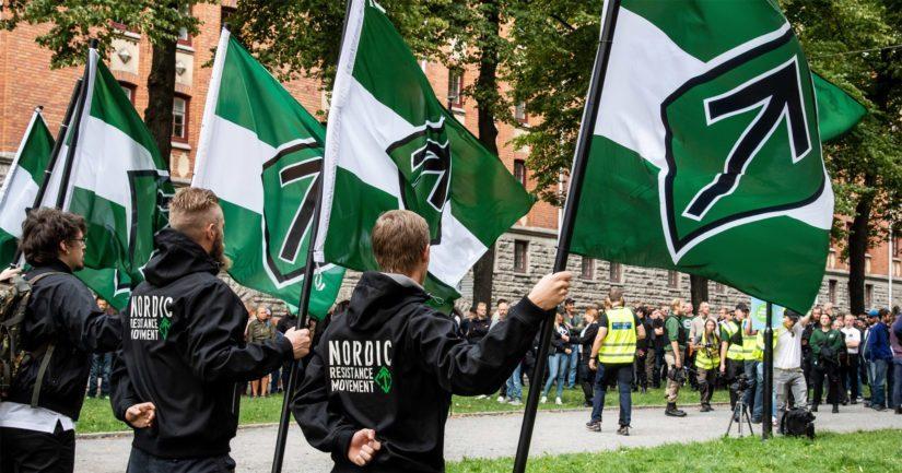 Pohjoismaisen vastarintaliikkeen järjestämät mielenosoitukset ovat Suomessa laittomia.