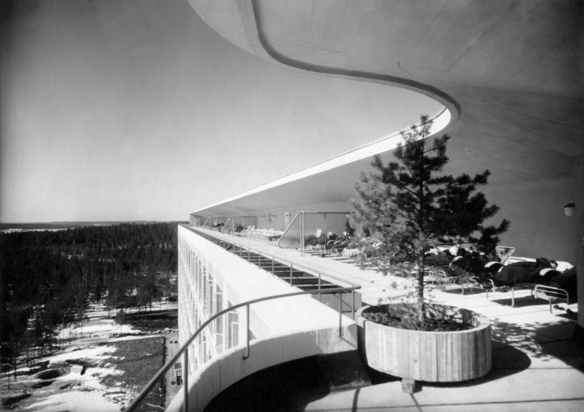 Paimion parantolan kattoterassi 1930-luvulla.