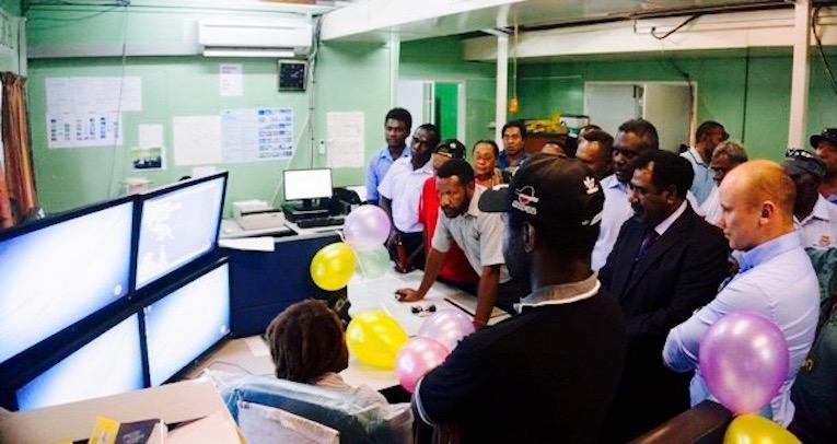 Ilmatieteen laitoksen SmartMet ja SmartAlert -järjestelmien käyttöönottotilaisuus Papua-Uudessa-Guineassa.