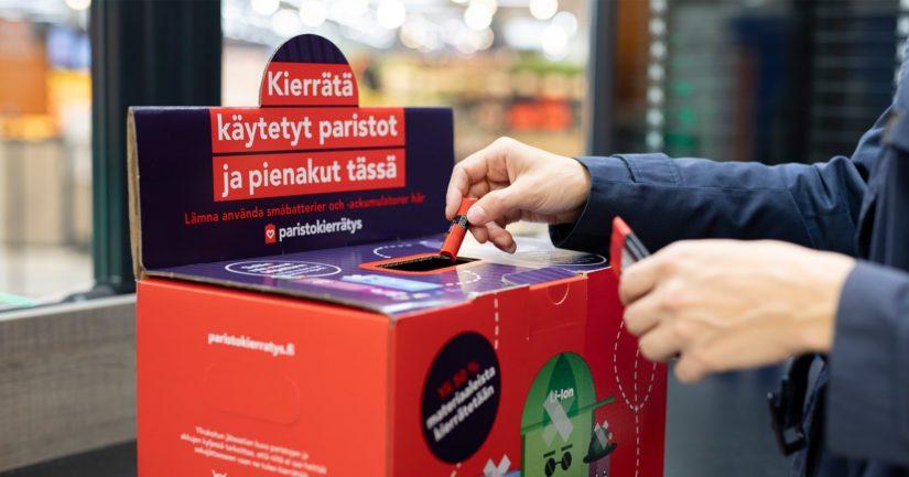 Jokainen suomalainen kiikutti keräyspisteille keskimäärin 270 grammaa käytettyjä virtalähteitä.