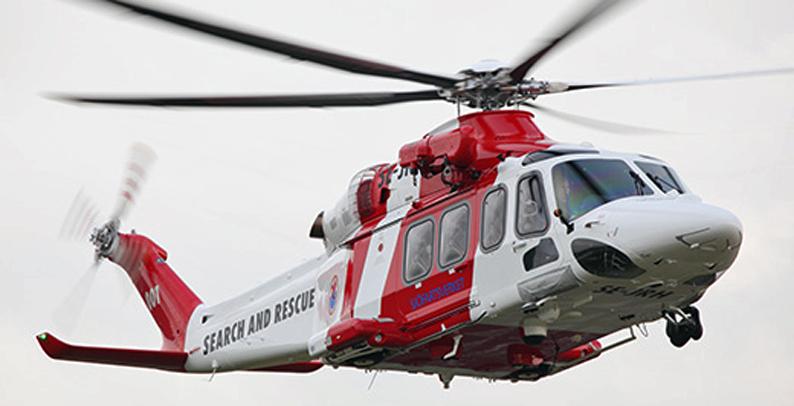 Pelastustehtävään osallistui myös meripelastushelikopteri Uumajasta.
