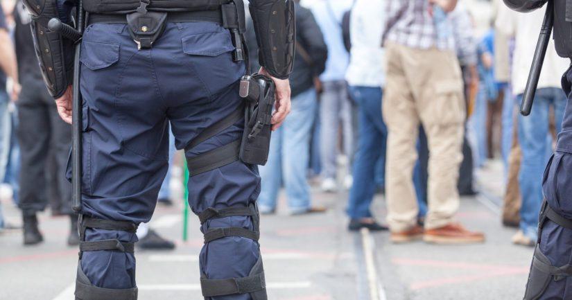 Poliisi huolehtii tapahtumissa yleisestä järjestyksestä ja turvallisuudesta.