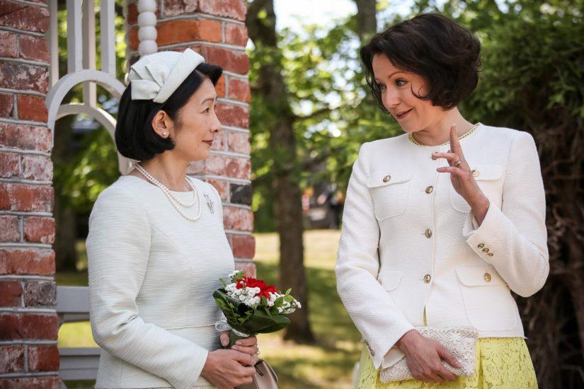 Kruununprinsessa Kiko ja rouva Haukio.