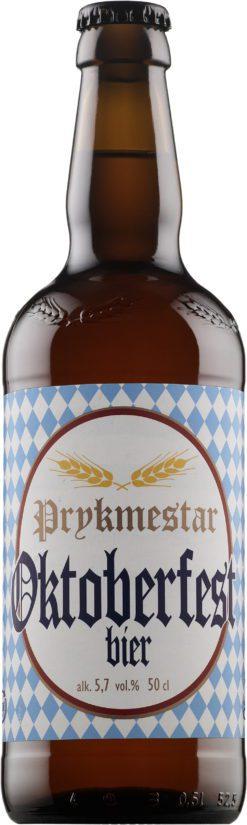 Alko myy parhaillaankin Vakka-Suomen Panimon Prykmestar Oktoberfest -olutta. (Kuva Alko)