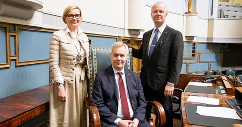 Paula Risikko, Antti Rinne ja Juho Eerola johtavat eduskunnassa puhetta ainakin hallituksen muodostamiseen asti.