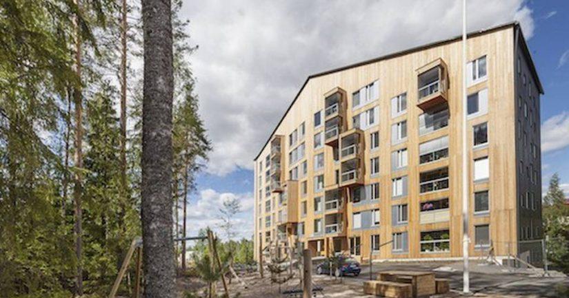 Puukerrostalo Puukuokka Jyväskylässä voitti arkkitehtuurin Finlandia-palkinnon.
