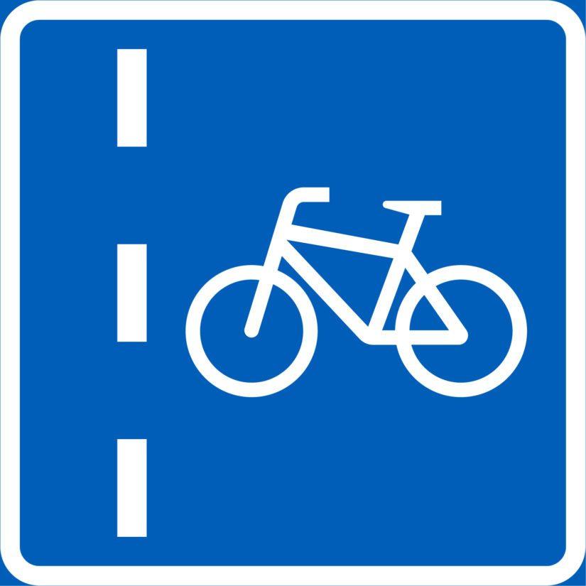 Pyöräkaistan merkki.