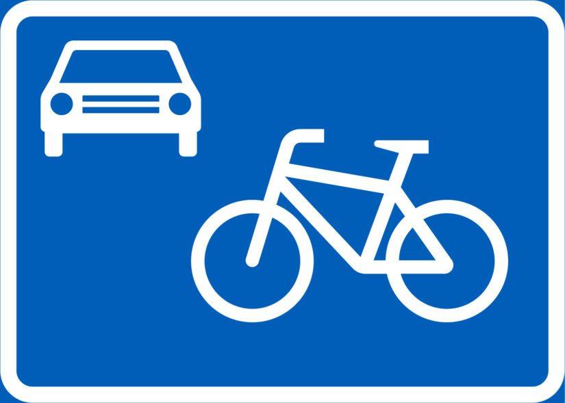 Pyöräkadun merkki.