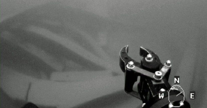 Sukellusrobotti ROV:n ottama kuva mahdollisesta venäläisestä hylystä.