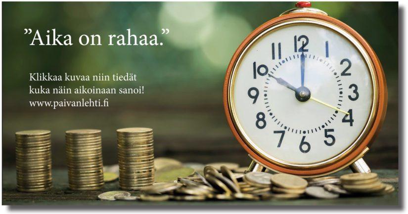 aika on rahaa
