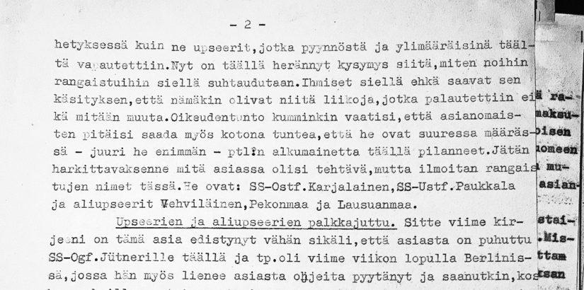 Kansallisarkistosta löytyvä yhdysupseeri K.E. Levälahden kirje osoittaa Törnin syyttömäksi.