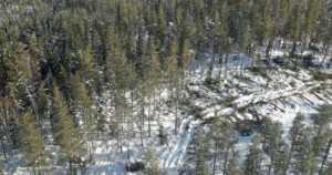 Lumituhojen arvioinnit valmistuivat helikopterilennoilla – puunkorjuu on jo hyvässä vauhdissa