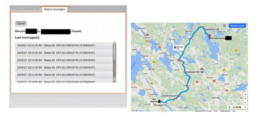 Ohjelmistotestaaja Janne Paalijärvi pystyi ilman salasanoja seuraamaan auton reittiä Hämeenlinnasta Kuohijärvelle.