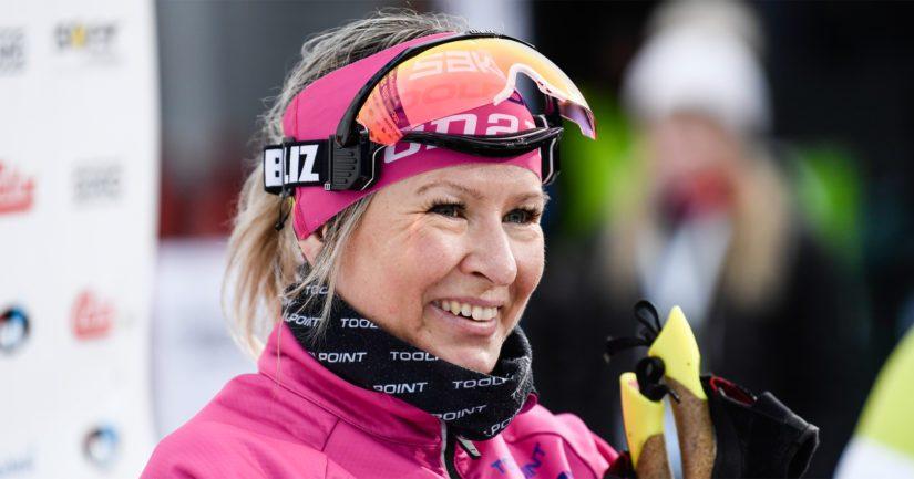 Riitta-Liisa Roponen on voittanut kuusi MM-mitalia ja yhden olympiamitalin