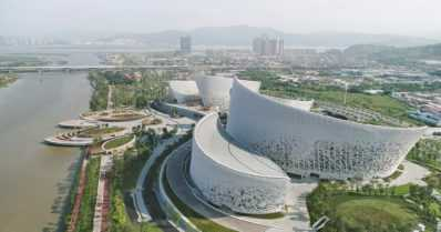 """Suomalaisarkkitehtien suunnittelema kulttuuri- ja taidekeskus avattiin Kiinassa – """"kulttuurin kauppakeskus"""""""