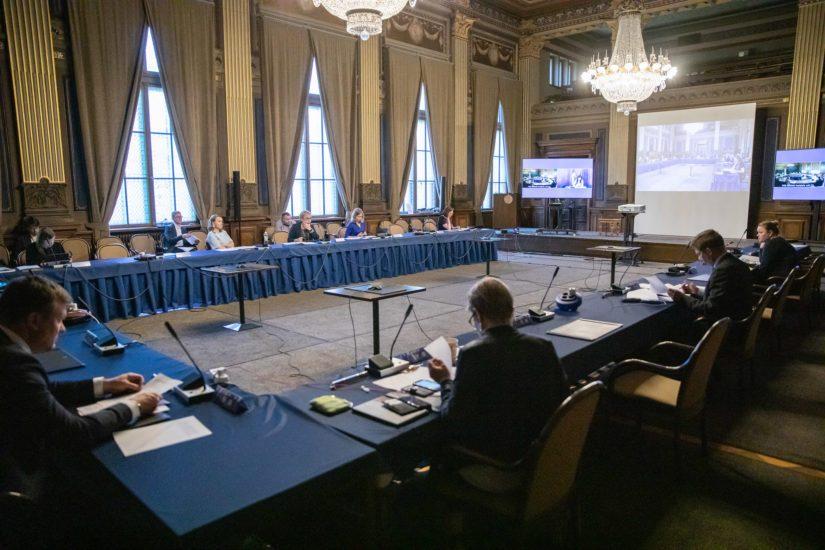 Hallitus piti lisätalousarvioesityksensä neuvottelut Säätytalossa.