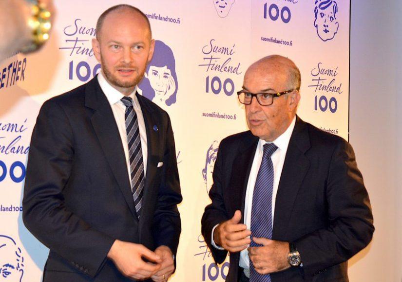 Myös Suomen eurooppa-, kulttuuri- ja urheiluministeri Sampo Terho on tavannut Dorna Sportsin pääjohtajan Carmelo Ezpeletan.