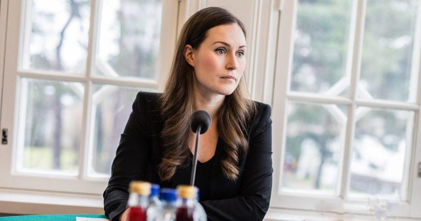 Pääministeri Sanna Marinin nauttimasta ateriakorvauksesta nousi kohu. Kuva Kesärannasta pääministerin kyselytunnilta.